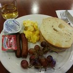 Breakfast was usual American hotel fare.  Sausage, scrambled eggs, pancakes, waffles, etc.