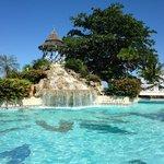 Nice pool (with swim-up bar)
