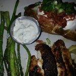 Blackened Grouper Dinner - Delish!