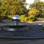 Roundabout in front of hotel