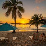 Sunsets at Secret Harbour Beach Resort USVI