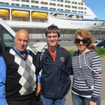 Vladimir, our driver, my son, and Elena, our tour guide