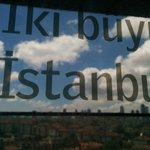 Poetry on the glass wall with an excellent view of Istanbul