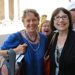Anne (in blue), Me and photobomber Melissa in Assisi