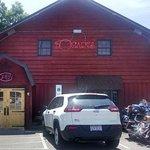 Picture outside Bogart's Restaurant in Waynesville, NC