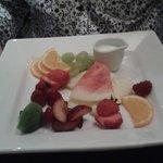 Fruit platter for desert.
