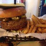 Bird's standard burger!  Don't get the triple.