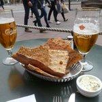tasty snacks with spread and wonderful Carlsberg beer!