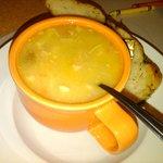 Huge Noodles! Great soup!
