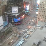 View of Time Square from Room 2037 day time