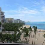 Diamond Head and beach from our balcony
