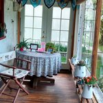 Enclosed porch area