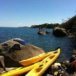 Kayaking around Thumbi