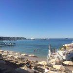 La plage et le ponton