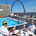 Even the rooftop pool offered a view of the Gateway Arch