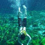 snorkelling in open cenote