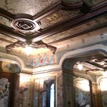 Highly ornate interior with Italian frescos