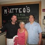Owner/Chef Matteo wished us a happy 36th Anniversary