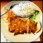 Fried Chicken Cutlet with Rice
