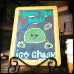 Green Ice-cream on offer