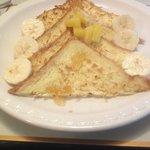 Banana and coconut toast
