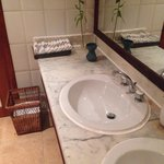 Luxurious toilets: Cloths instead of paper towels was a nice touch
