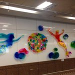 Pretty mural at Sanduo MRT Station; FE21 Mall is sited atop this station's exit 2.