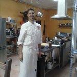 Mitch at work in the kitchen