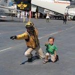 playing on the flight deck