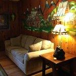Living room in Balsam Cottage