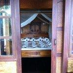 bedroom upstairs in villa