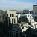 Вид на Брюссель из окна нашего номера