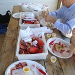 No frills approach to fresh lobster