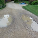Manor House poorly maintained driveway