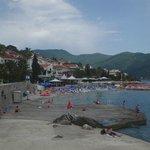 Herceg Novi, walking from the hotel along the beach