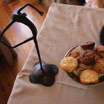 Biscuits servis avec le café