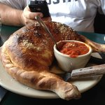 Calzone the size of a football!
