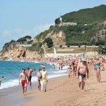 Calella! Общественный пляж.