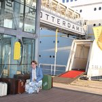 Entrance to the ship with suitcases (not ours!!)