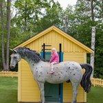Maria på hesten til Pippi