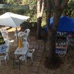Tavoli e colazione in giardino