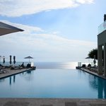 Beautiful view from very cold infinity pool