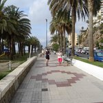 Promenade in front of the hotel.