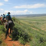 trail ride on the ridge overlooking the ranch