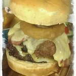 Feeling hungry? Try our 'Who's the Daddy' burger with all the trimmings!