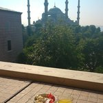 Breakfast on the Terrace overlooking the Blue Mosque