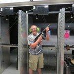 Chris after shooting a Thompson Machine Gun