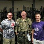 Chris, John and Alex in the gun vault