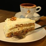 Carrot Cake with Hot Chocolate (70% Single Origin Cacao)