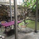 External dining area